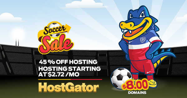 HostGator Soccer Sale Coupons